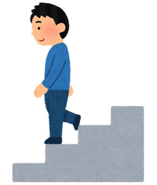 フォートナイト高いところから階段で降りる方法
