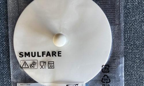 イケアでグラスフタ「スムルファレ」 買ったら汚れが結構ついた
